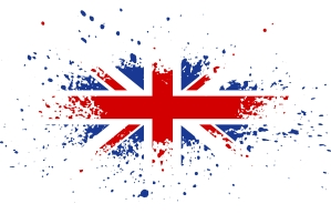 Grunge British ink splattered flag
